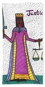 Tarot Of The Younger Self Justice Bath Towel