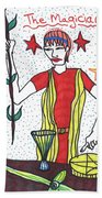 Tarot Of The Younger Self The Magician Bath Towel