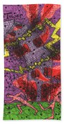 Tarot Of The Younger Self The Tower Bath Towel