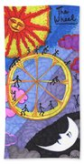 Tarot Of The Younger Self The Wheel Bath Towel