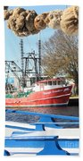 Tarpon Springs Shrimp Boat Bath Towel