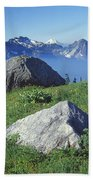 1m4862-tatoosh Range And Mt. St. Helens  Bath Towel