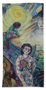 Tattooed Man  Hand Towel