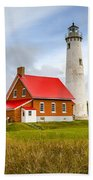 Tawas Point Lighthouse - Lower Peninsula, Mi  Bath Towel