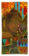 Tea Party With Klimt Bath Towel