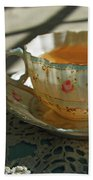 Teacup On Lace Hand Towel