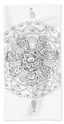 Teddy Bear Mandala Bath Towel