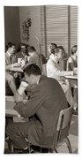 Teens At A Diner, C. 1950s Bath Towel