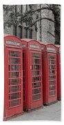Telephone Boxes Bath Towel
