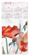 Template For Calendar 2013 Hand Towel