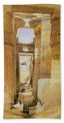 Temple Of Karnak  2 Bath Towel