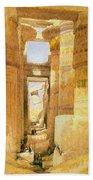 Temple Of Karnak  Bath Towel