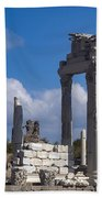 Temple Of Trajan View  Bath Towel