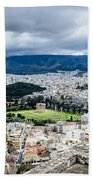 Temple Of Zeus - View From The Acropolis Bath Towel