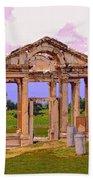 Temple Ruins At Ephesus Bath Towel