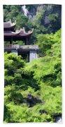 Temple Tam Coc Ninh Binh  Bath Towel