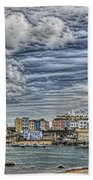 Tenby Harbour Texture Effect Bath Towel
