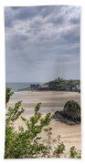 Tenby Pembrokeshire Low Tide Bath Towel