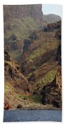 Tenerife Coastline Bath Towel