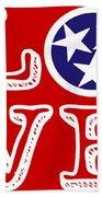Tennessee Flag Love Bath Towel