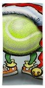 Tennis Christmas Bath Towel
