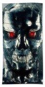Terminator Oil Pastel Sketch Bath Towel
