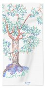 Tesselated Tree Bath Towel
