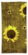 Test Rustic Sunflower Custom Bath Towel