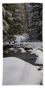 Teton River In Winter Bath Towel