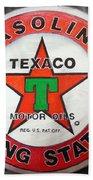 Texaco Sign Bath Towel