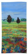 Texas Landscape Bluebonnet Indian Paintbrush Explosion Bath Towel