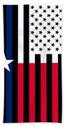 Texas State Flag Graphic Usa Styling Bath Towel