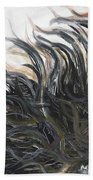 Textured Black Sunflower Bath Towel