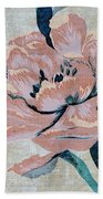 Textured Floral No.2 Bath Towel by Writermore Arts