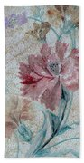 Textured Florals No.1 Bath Towel by Writermore Arts