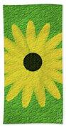 Textured Yellow Daisy Bath Towel
