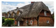 Thatched Cottages In Chawton Bath Towel