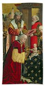 The Adoration Of The Magi Hand Towel by Absolon Stumme
