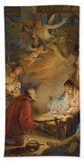 The Adoration Of The Shepherds Bath Towel