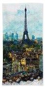 The Aesthetic Beauty Of Paris Tranquil Landscape Bath Towel