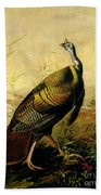 The American Wild Turkey Cock Bath Towel