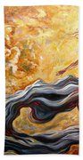 The Arrival Of The Goddess Of Consciousness Bath Towel