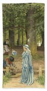 The Artist's Wife And Daughters In A Park At Heringsdorf Bath Towel