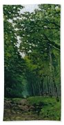 The Avenue Of Chestnut Trees Bath Towel