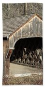 The Baltimore Covered Bridge - Springfield Vermont Usa Bath Towel