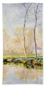 The Banks Of The River Epte At Giverny Bath Towel