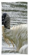 The Bathing Wood Stork 2 Bath Towel
