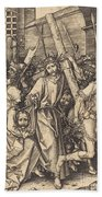 The Bearing Of The Cross With Saint Veronica Bath Towel