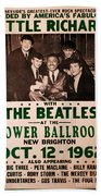 The Beatles And Little Richard Poster Collection 6 Bath Towel
