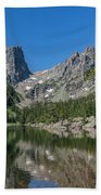 The Beautiful The Louch Lake With Reflection And Clear Water Bath Towel